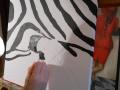 Ein Zebra-ensteht von Beke, in der Malschule Maluck