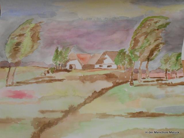 norddeutsche Landschaft von Gaby, in der Malschule Maluck