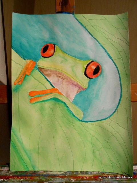Frosch von Stine, in der Malschule Maluck