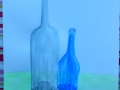 """Hier wurden """"Glasflaschen"""" in Wasserfarbe geübt von Erika"""