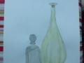 """Hier wurden """"Glasflaschen"""" in Wasserfarbe geübt von Linn"""