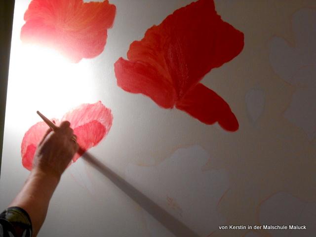 Herstellung Mohnblumen