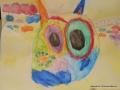 Katze mit Wasserfarbe, Noreen 6 Jahre