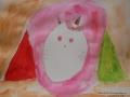 Katze mit Wasserfarbe, Verita 6 Jahre