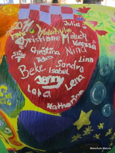 09  Lulu die Sternenkuh, Teilnehmer Malschule Maluck