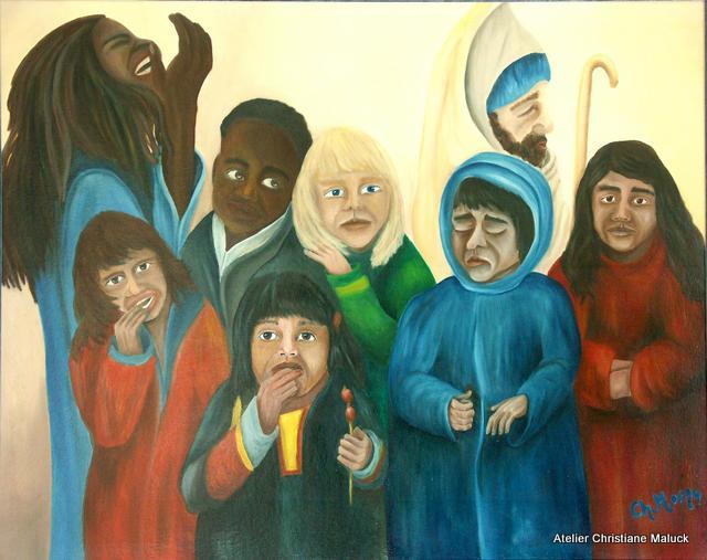 Kinder dieser Welt, Öl 100x80 cm