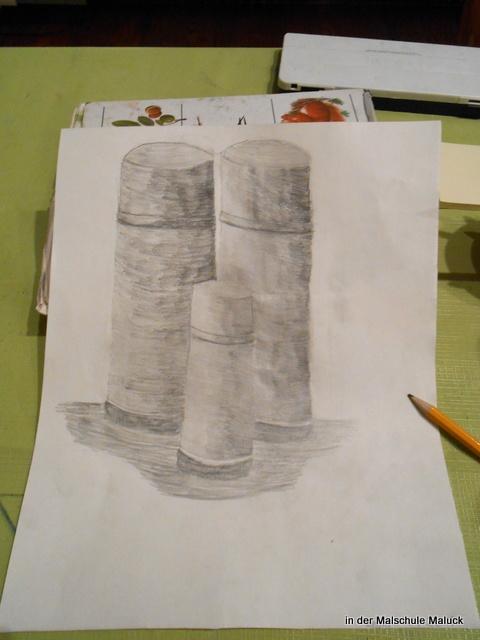 Zylinder zeichnen, von Lara, 9 Jahre